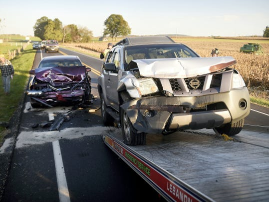 One person was transported to Hershey Medical Center after a three vehicle pile up at 4:53 p.m., Tuesday just east of Rocherty and Colebrook roads. Rocherty Road was closed from Colebrook to Mill roads unitl the crash could be cleared.
