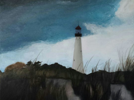 """Spring Storm Approaching Cape May Lighthouse"""