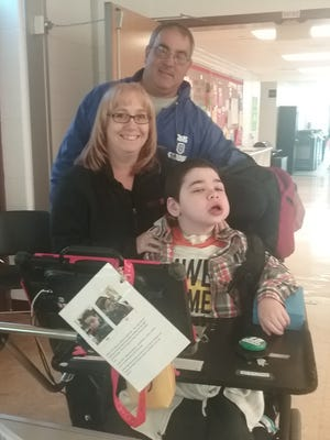 Joey Condo is non-verbal and uses an augmentative device to communicate.