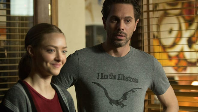 Amanda Seyfried (left) stars as Anne Sherman and Thomas Sadoski (right) is Robin Sands in 'The Last Word.'