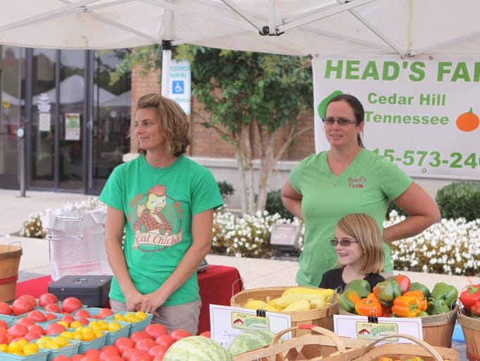 The Downtown Market drew big crowds on Saturday morning.