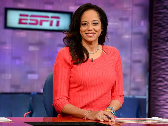 Portrait of ESPN's Carolyn Peck in February 2013.