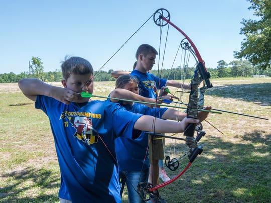 Members of the Holly Grove Christian School Archery