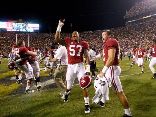 NCAA Football: Alabama at LSU