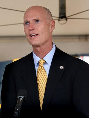 Gov. Rick Scott is meeting this morning with the Cabinet in Tampa.