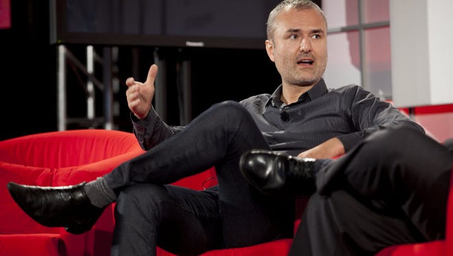 """Owner of Gawker Media, Nick Denton. Gawker's motto is """"Today's gossip is tomorrow's news."""""""