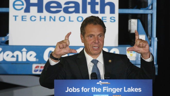 Governor Cuomo talks about expansion at eHealth Technologies, adding 160 new jobs on Tuesday, July 18.