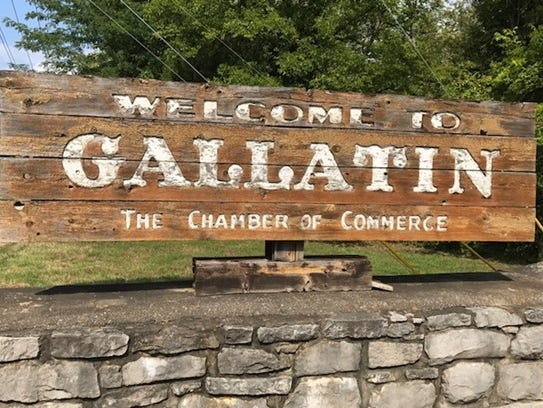 The Gallatin sign was in need of some TLC, and the
