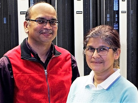 Rajendra Zope, left, and Tunna Baruah, UTEP physics