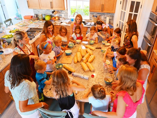 A group of moms joined forces to host a three day-cooking