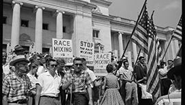 Anti-integration rally in Little Rock in I Am Not Your Negro, a Magnolia Pictures release