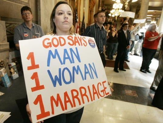 anti same sex marriage countries banned in Indiana