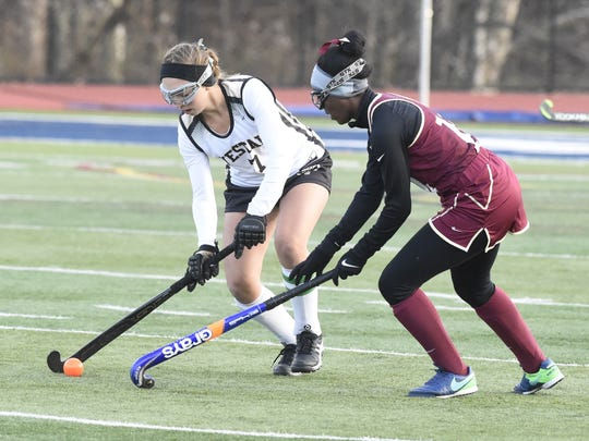 Vestal's Tracy Sephton controls the ball during Saturday's