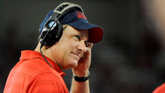 Arizona head coach Rich Rodriguez on the sidelines during the first quarter against the UNLV Rebels at Arizona Stadium on Aug. 29, 2014