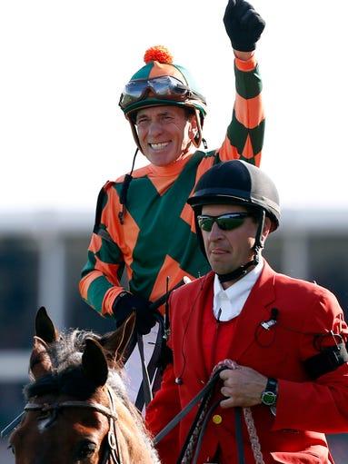 Kerwin Clark aboard Lovely Maria celebrates winning