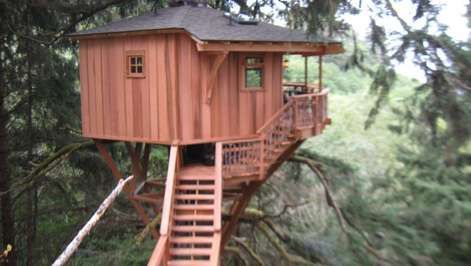 The tree house in Neskowin that Nelson's Treehouse Supply was fined for