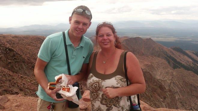 Marine Sgt. Jeffrey Sempler with his mother, Laurie Allen, in Colorado.