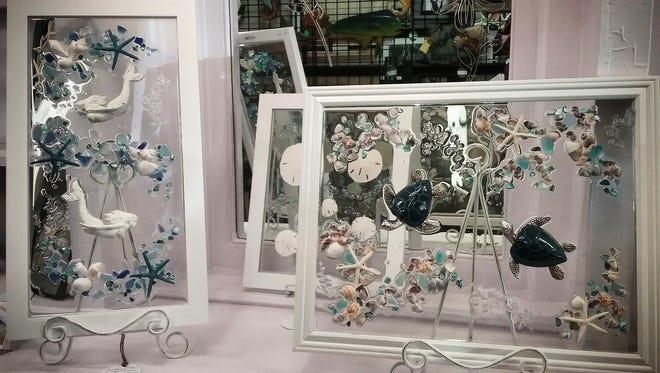 No heat glass art pieces by Nancy Smith.