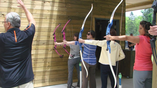 The newly constructed Riley Archery Range in Farmington Hills is extremely popular.