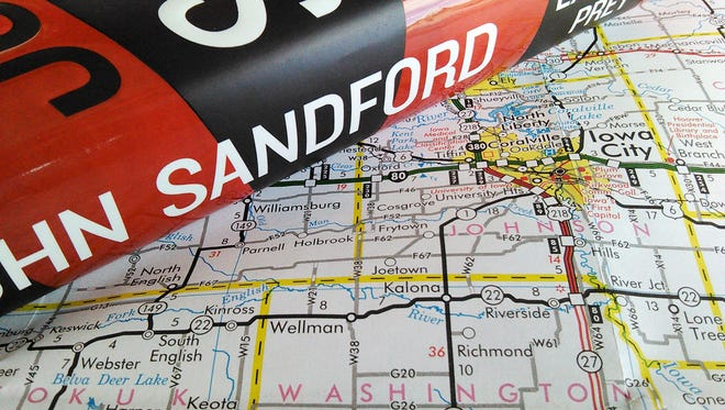 "The latest novel in author John Sandford's best-selling ""Prey"" series focuses on his old stomping grounds.  Much of the action takes place within 50 miles of Iowa City."