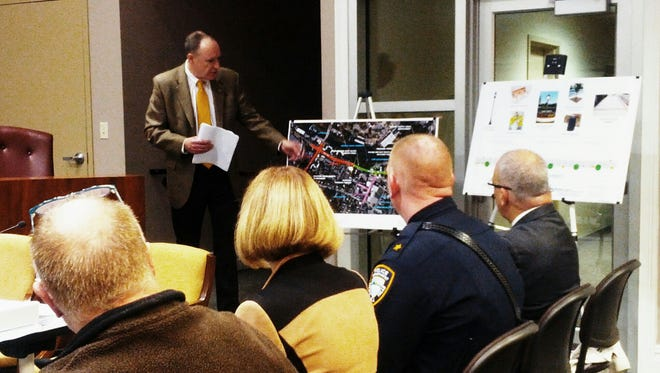 An expert testified about the streetscape project proposed for the center of Little Falls during a council meeting Oct. 17.