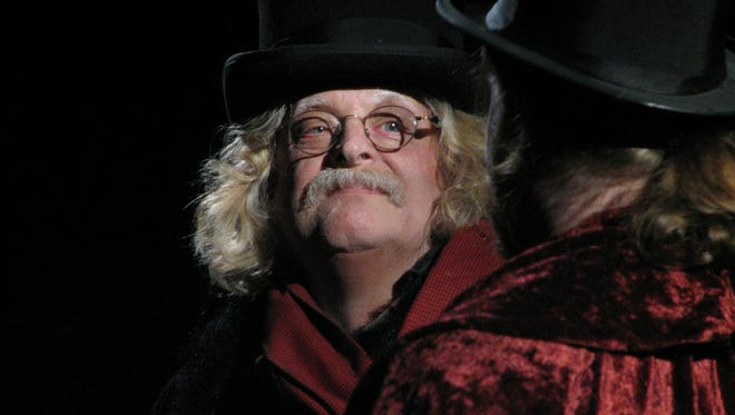 """Bruce Curless stars as Scrooge in """"Scrooge the Musical"""" at the Ritz Theatre in Oaklyn."""