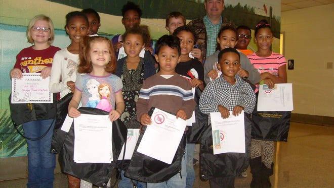 "Shown are John C. Calhoun Elementary School ""Students of the Month"" for November. The school is located in Calhoun Falls."