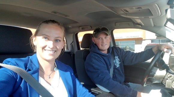 Lyft driver Ryan Farsdale gives Reporter Alexa Giebink a ride on Oct. 24, 2017.