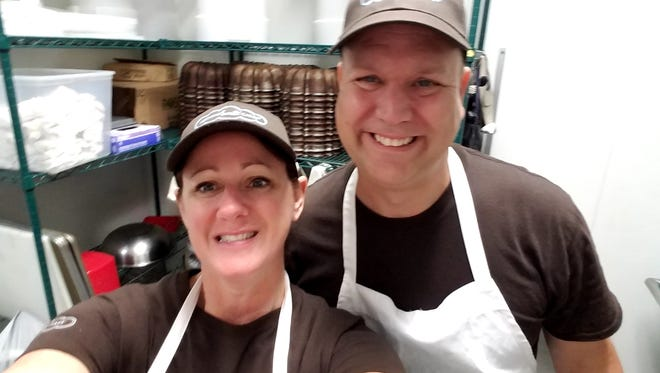 Barb Falk and Mike DeJong, both of Oconomowoc, plan to open the first Nothing Bundt Cakes store in Wisconsin on Nov. 29, The store will be at 18000 W. Blue Mound Road, Brookfield.