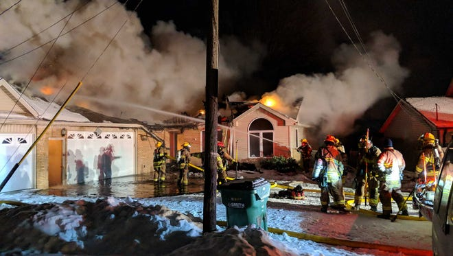 Firefighters were at a house fire Thursday in Chesterfield Township.
