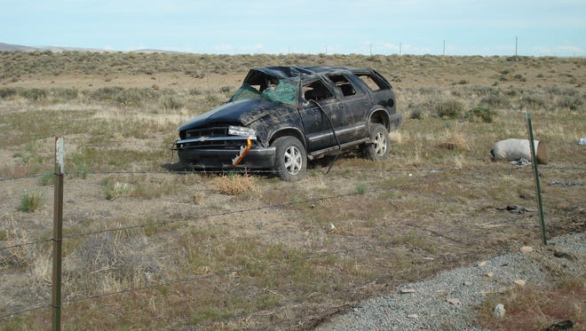 A Sparks man was killed in a single-vehicle accident near Wadsworth.