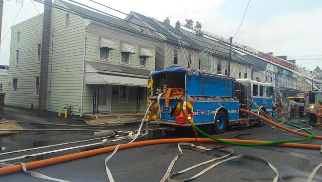 A two-alarm fire was reported at 217 Lehman St. in Lebanon on Thursday at about 1:45 p.m.