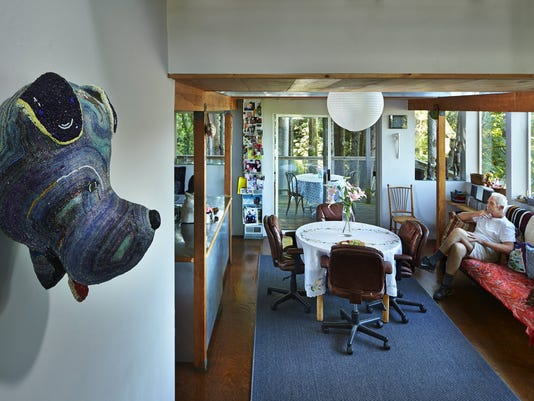Artists Peter Millett and Sherry Markovitz work from their contemporary home