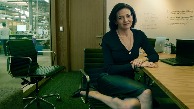 Facebook Chief Operating Officer Sheryl Sandberg. The portrait, by Annie Leibovitz, was taken as part of WOMEN: New Portraits, a series of portraits of women commissioned by UBS. a Swiss global financial services company.