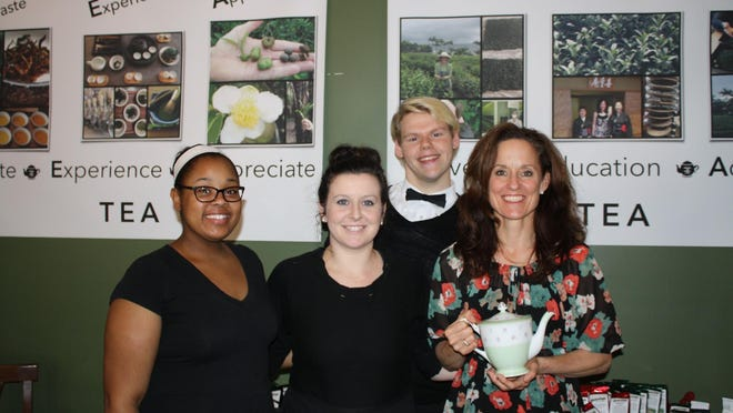 The staff at Yesterday's Cafe and Tea Room includes Lauren Jones, Courtney Grigson, Kaleb Lyons and owner Susan Schultz.