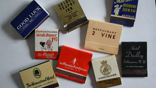 Matchbooks — such as these in columnist Jim Memmott's collection — can stir up many memories.