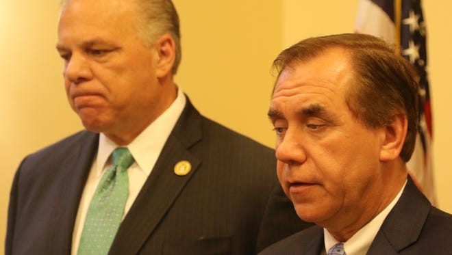 Senate President Stephen Sweeney, D-Gloucester, and Assembly Speaker Craig Coughlin, D-Middlesex