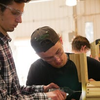 Polytech students build chairs for Flemington Borough