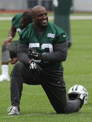 The release of David Harris last week also opens up a competition at middle linebacker, although the Jets don't have any slam dunk options.