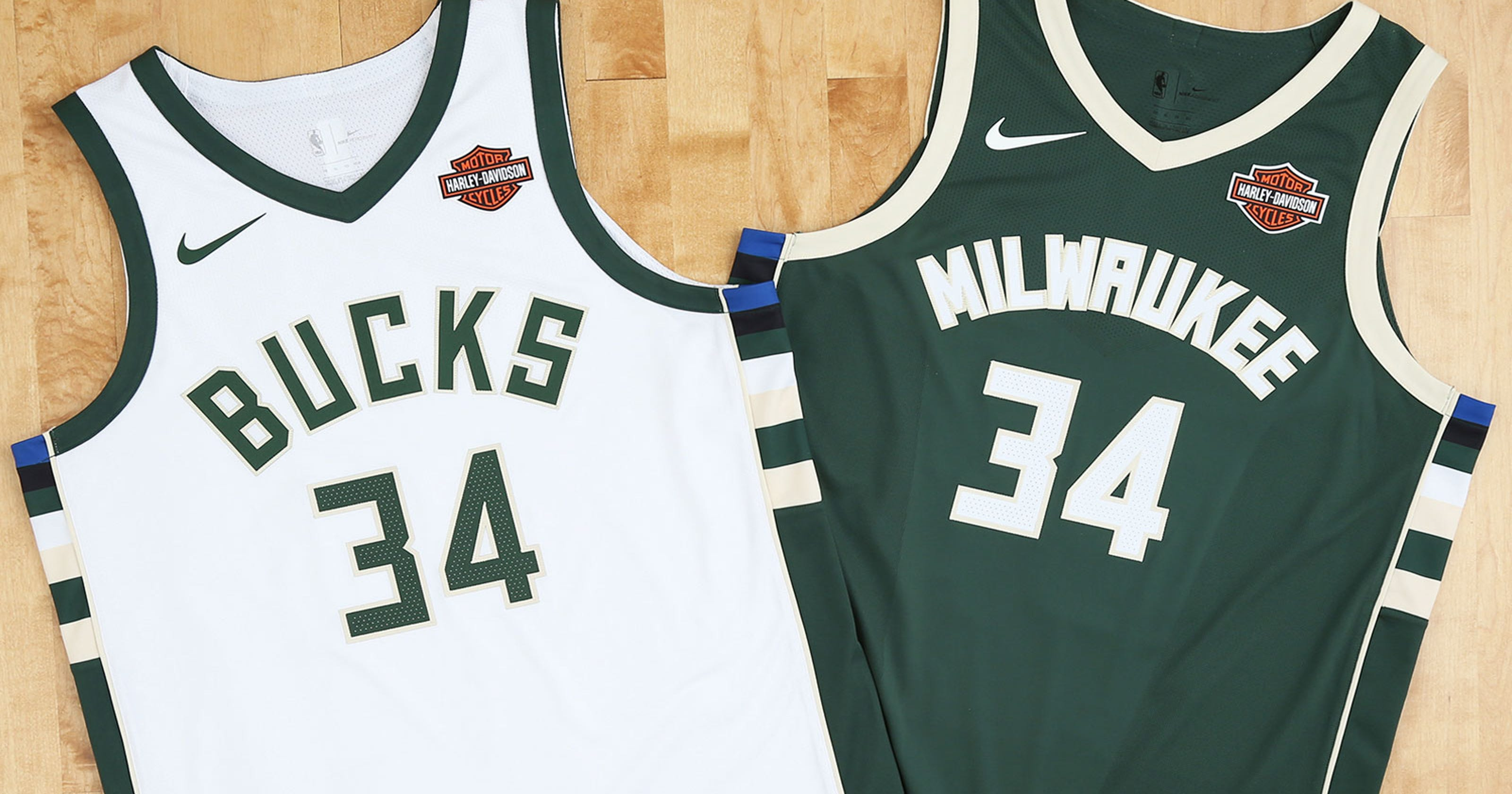6f2cd5c6da8 Milwaukee Bucks game jerseys to feature Harley-Davidson advertising patch  starting in 2017- 18