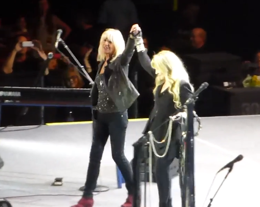 Christin McVie and Stevie Nicks