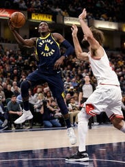 Oladipo conditioned hard last year, improving his balance,