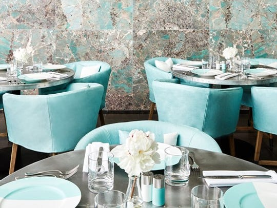 Inside the Blue Box Café at Tiffany & Co.'s flagship