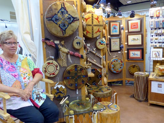 Black Stone native american inspired drums and art