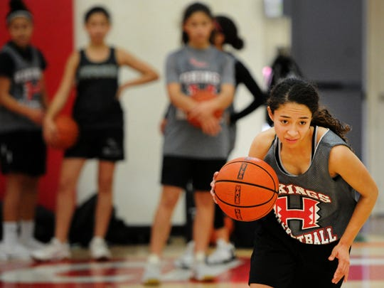 Isabel Ayala has averaged 14.7 points per game for the Hueneme High girls basketball team, which will play in the program's first final when it faces Desert Christian Academy for the Division 5AAA title Saturday at Godinez High art 4 p.m.