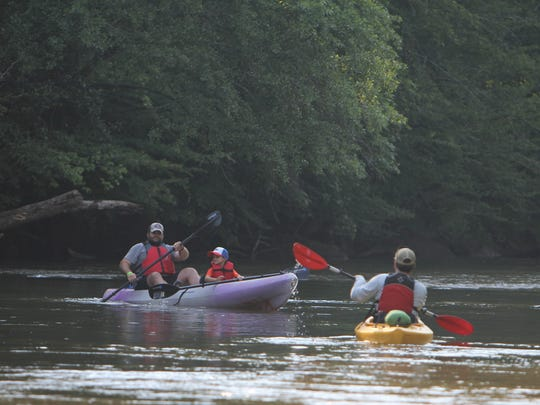 "More than 150 kayakers came to the 8th annual Saluda River Rally at M.J. ""Dolly"" Cooper Park in Powdersville."
