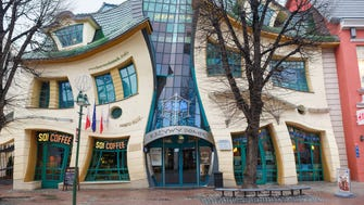 The Crooked House, Monte Cassino, Poland: As if to show how the mundane can become marvelous, the Crooked House is a building on a normal shopping street in this seaside town, and it hosts a mall with restaurants, shops and businesses. Rather than go the normal route, however, the architects – inspired by Polish children's book illustrator Jan Marcin Szancer – went for a wonky fairy-tale route, distorting all the house's lines to bizarre and comic effect. Sopot's tourists love it – although some still fear entering.