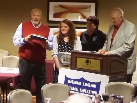 Battle Creek Terry Newton and Annie Newton were honored by the NABF as the orgainization's Man of the Year and Woman of the Year.