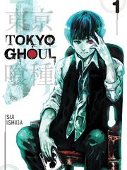 "The cover art for the first issue of ""Tokyo Ghoul,"""
