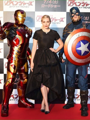 """Elizabeth Olsen and friends at the Japanese premiere of """"Avengers: Age of Ultron."""""""